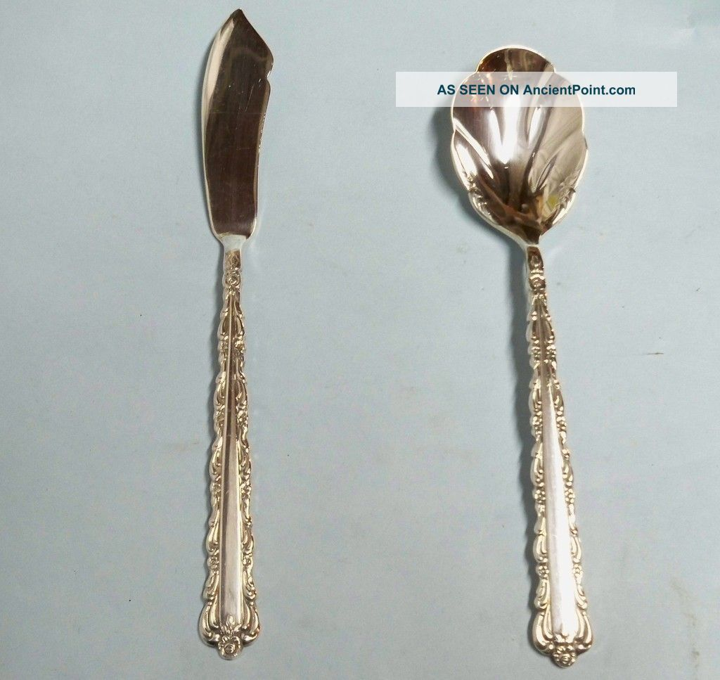 Bellfontaine Sugar & Master Butter - Ornate 1973 Rogers - Clean & Table Ready Other photo