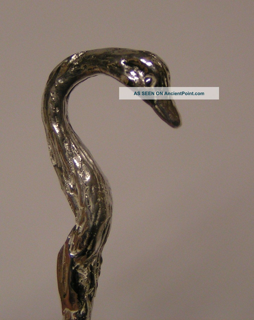 Salt Spoon (swan) Solid Sterling Silver Salt Cellars photo