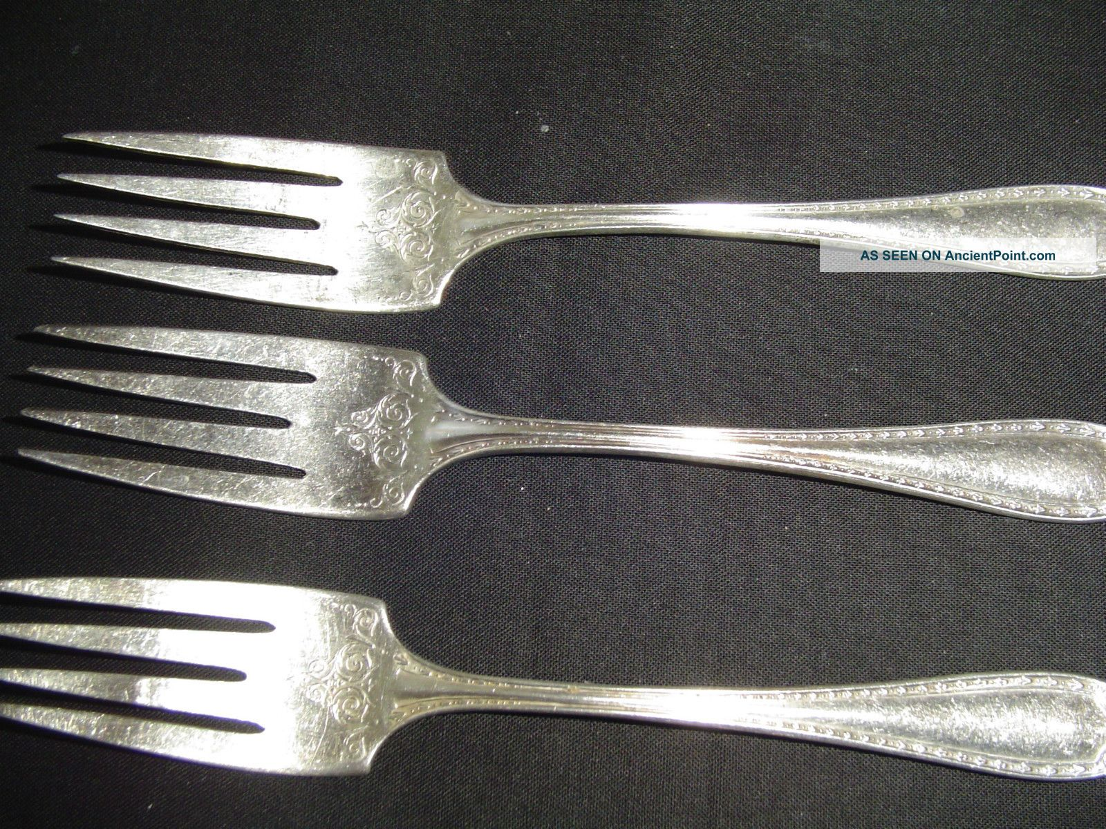 Community Silverplate Sheraton Pattern - 3 Salad Or Dessert Fork 1910 Other photo
