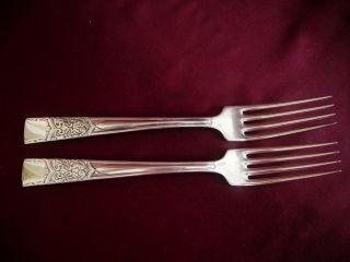 Diamond Silver Co.  2 Dinner Forks,