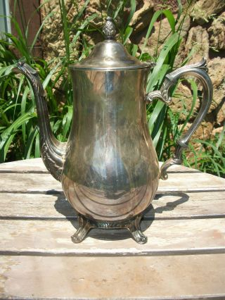 I.  S.  Co Silver Plate Handle,  Spout Teapot Pour Cup Of Tea On Patio Or In Kitchen photo