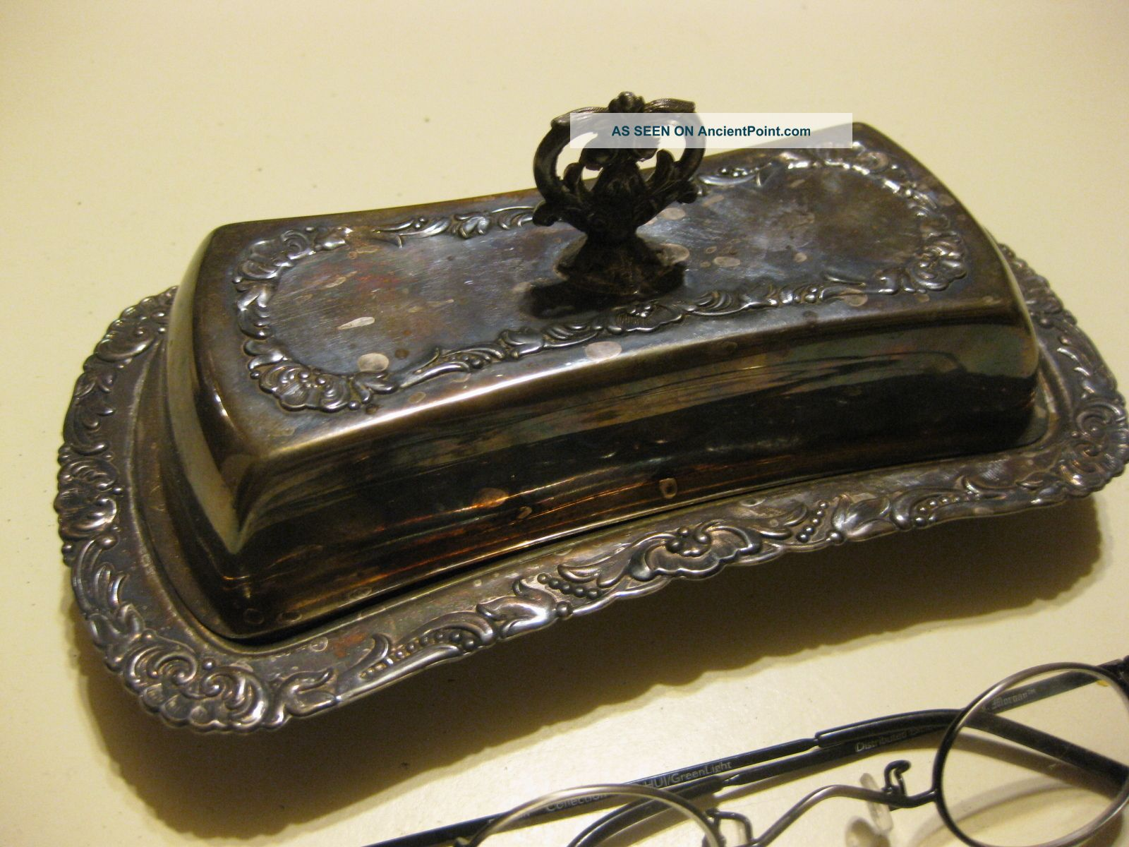 B.  Rogers Silverplate Covered Butter Dish Butter Dishes photo