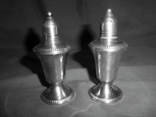 Duchin Creation Sterling Silver Weighted Salt And Pepper Shakers photo