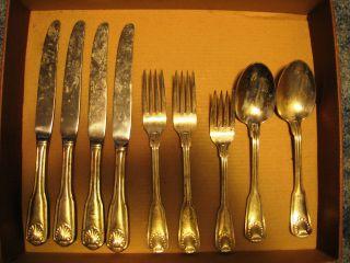 Olde Chelsea Korea Silverplate Flatware Spoons,  Knives,  Forks photo