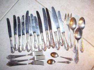 Vintage 23 German 100 Silverplate Lot Flatware Cms Carl Mertens 90 Meridional photo