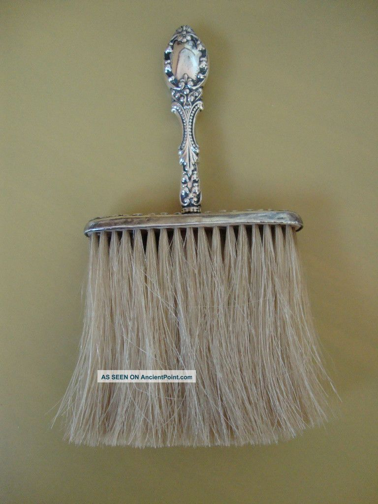 Antique Sterling Silver Handled,  Clothing Brush - Wow Brushes & Grooming Sets photo