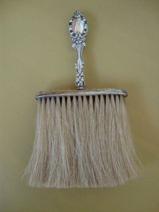 Antique Sterling Silver Handled,  Clothing Brush - Wow photo
