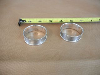Broadway & Co.  2 Sterling Silver Napkin Rings - Exc+ photo