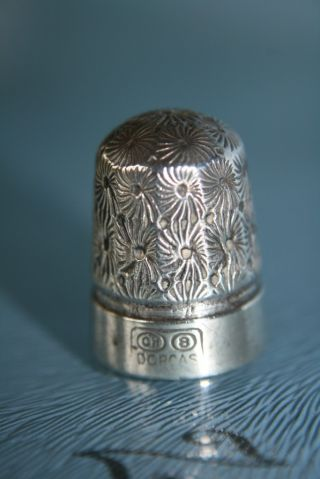 Silver Charles Horner No.  8 Dorcas Thimble Steel Core photo