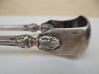 Antique French Silver Sugar Tongs photo
