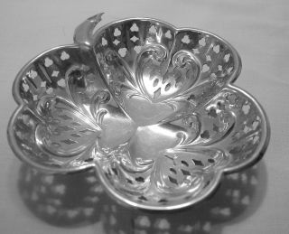 Victorian Silver Plated Pierce Work Bon Bon Dish photo