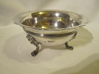 Frederick Haberling Hallmarked Silver Bowl With Lion Claw Feet Circa:1903 photo