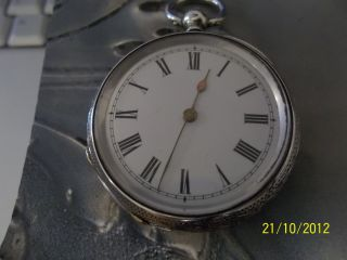 Ladies Silver Pocket / Fob Watch Swiss Made photo