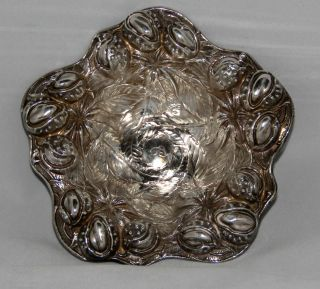 William B.  Kerr & Co.  Sterling Silver Repousse Acorn Dish 1880 - 1927 photo