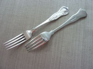 Two King - Kings Silverplate Fork photo