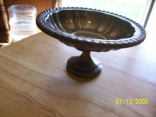 Vintage Silverplated Footed Candy Dishes From Oneida Silversmiths photo