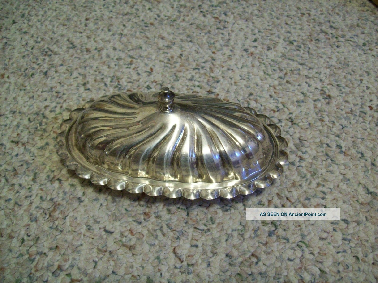 Antique Sheridan Silver Plate Covered Butter Dish No Liner Butter Dishes photo