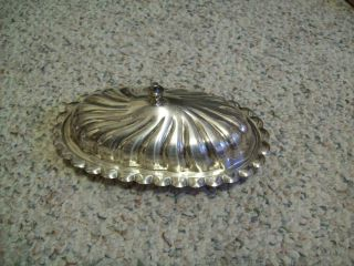 Antique Sheridan Silver Plate Covered Butter Dish No Liner photo