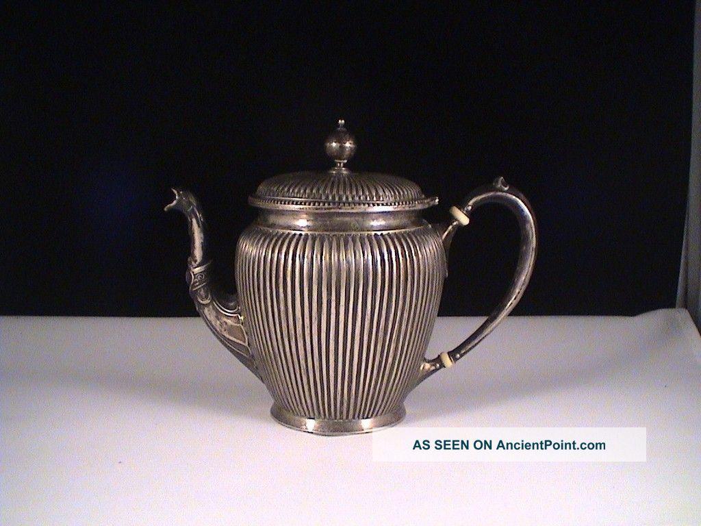 Antique.  800 Silver Teapot Tea Pot Germany Germany photo