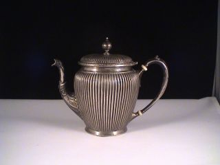 Antique.  800 Silver Teapot Tea Pot Germany photo