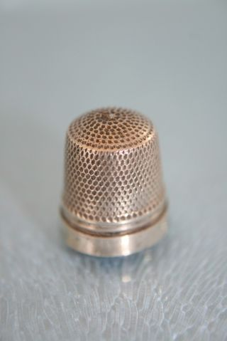 Sterling Silver Chatelaine Tiny Thimble C1900 photo