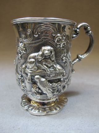 Antique English Sterling Silver Cup,  Circa 1852 As/5135 photo