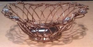 Vintage Handcrafted Godinger Silver Art Co.  Decorative Silver Basket Bowl photo