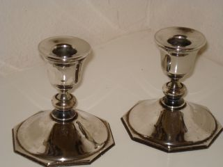 Lenox Silver Plate Candlesticks photo