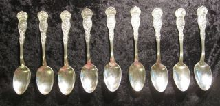 United States Collectible Spoons 9 Silverplated Wm Rogers Vintage photo