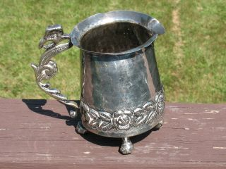 Hand Hammered Silverplated Pitcher Made In Brazil photo