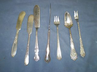 Silver Plate Flatware 7 Pieces Silverplate photo