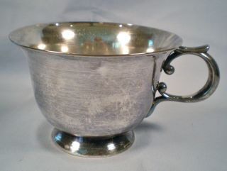 Antique Vtg Silver Plate Cup / Mug Very Heavy Tea/coffee Cup photo