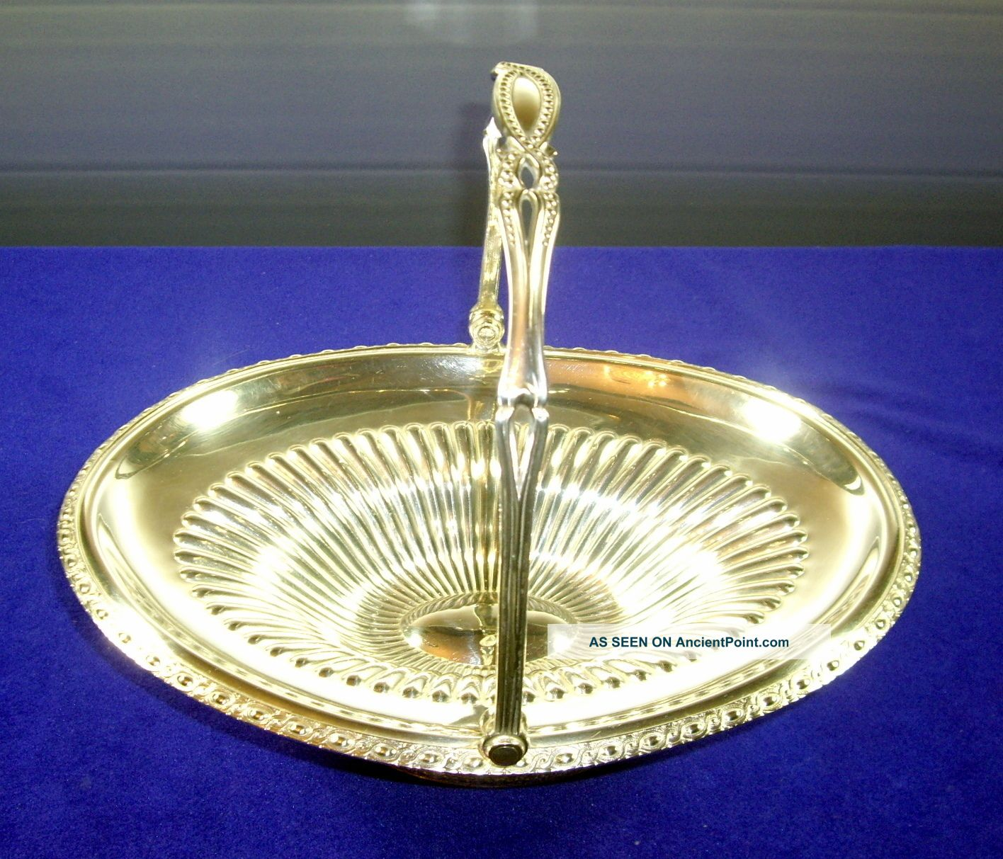 Silver Plated Oval Footed Basket With Handle By Hartford Mfg Co,  Hartford,  Ct Baskets photo