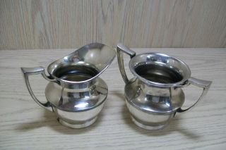 Silver Plate Sugar & Cream Set Forbes Silver Co 283 photo