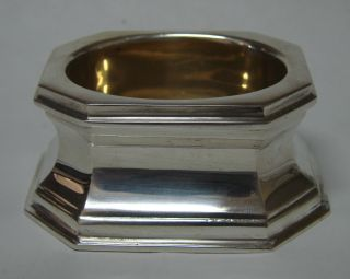 Heavy 4.  64 Oz Sterling Silver Trencher Open Salt Cellar Dish Currier & Roby 1900 photo