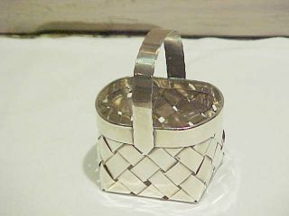 Handcrafted Cartier Sterling Silver Woven Basket photo