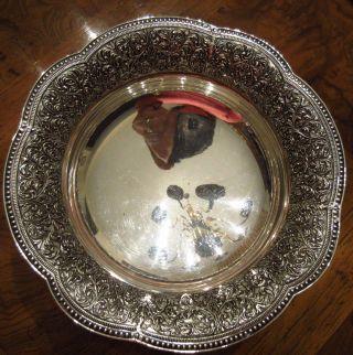 Unique Antique Sterling Silver Camusso Peru 3 Footed Serving Bowl Rococo Rim photo