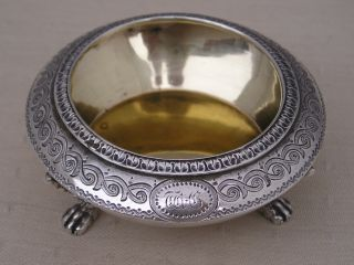 Lovely Barnard 1872 Victorian Hallmarked Silver Gilt Salt Pot 50g photo