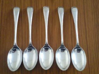 Antique/ William Hutton Fiddle Dessert Spoons From 1864 / Silver Plate photo