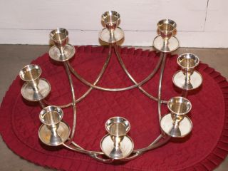 Silverplate 8 Hole Candelabra photo