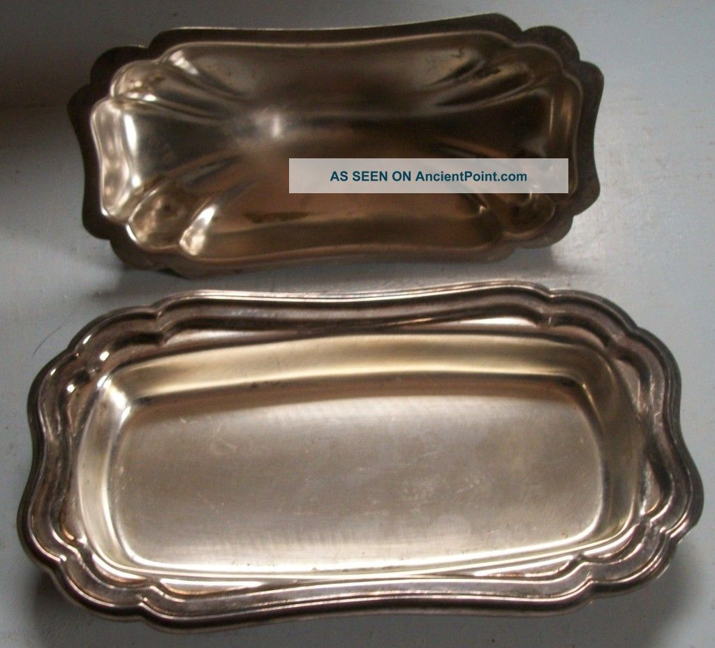 Silver Plated Gorham Heritage Butter Server Butter Dishes photo
