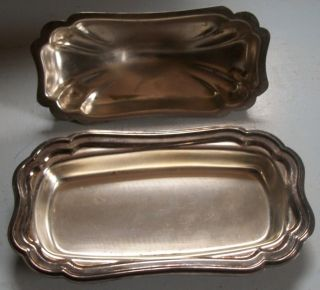 Silver Plated Gorham Heritage Butter Server photo
