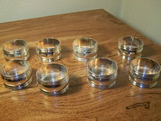 Vintage Set Of 8 Silverplate Napkin Rings photo