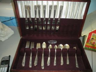 Oneida Nobility Caprice Silverplate 58 Flatware Pieces Silver Plate photo