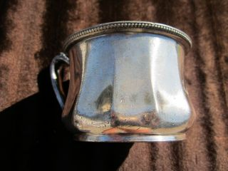 Antique Reed & Barton 2035 Silverplate Silver Plated Monogramed Cup photo