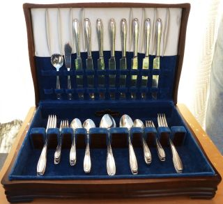 Wallace Harmony House Silverplate Flatware Set,  Serenade,  1944, photo