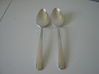 Vintage Rogers 1881 Brookwood 2 Large Serving Spoons Good Condition photo
