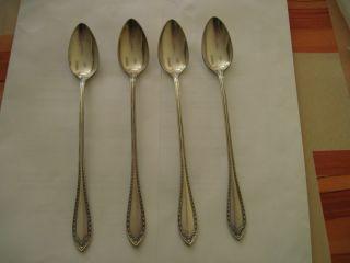 Oneida Community Silver Plate 4 Ice Tea Spoon photo