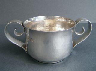 Finest Arts & Crafts Solid Britannia High Grade Silver 958,  2 Handled Cup Quaich photo