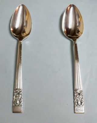 2 Coronation Large Serving Spoons - 1936 Community Classic - Table Ready/clean photo